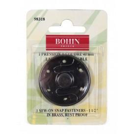 bouton pression noir 40mm bohin