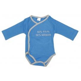 body bleu 50%papa 50%maman 0-3mois
