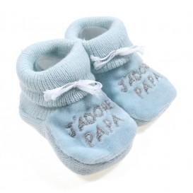 chausson bébé j'adore papa bleu