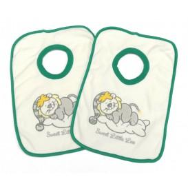 2 bavoirs lion picco mini