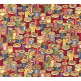 tissu patchwork makower bobine fil largeur 110cm x 25cm