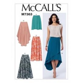 patron jupes à taille élastique McCall's M7363