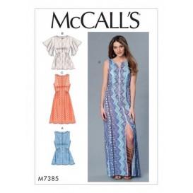 patron hauts et robes McCall's M7385