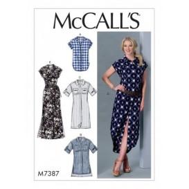 patron haut, tunique, robes McCall's M7387