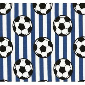 tissu jersey rayure foot bleu largeur 145cm x 50cm