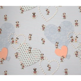 tissu coton disney minnie daisy shopping fuschia largeur 140cm x 50cm