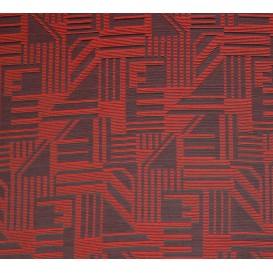 tissu ameublement capri rouge largeur 150cm x 50cm