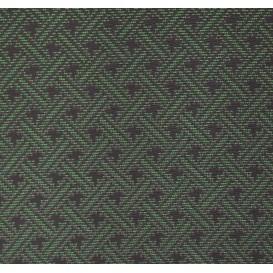tissu ameublement capri noir/vert largeur 150cm x 50cm