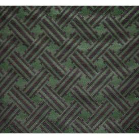 tissu ameublement formes vert/noir largeur 150cm x 50cm