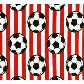 tissu jersey rayure foot rouge largeur 145cm x 50cm
