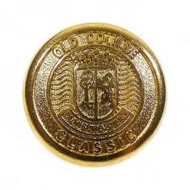 bouton métal ancre doré 22mm