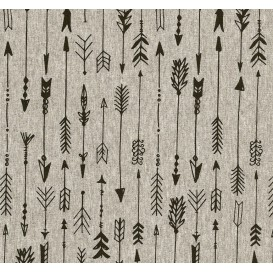 tissu jersey gris flèches largeur 145cm x 50cm