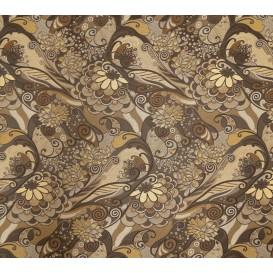 tissu ameublement guadalupe marron largeur 150cm x 50cm