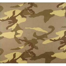 tissu coton camouflage marron largeur 145cm x 50cm