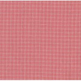 tissu coton/viscose carreaux roses largeur 140cm x 50cm