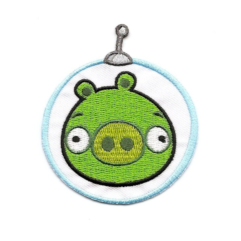 Cusson angry birds space cochon thermocollant - Cochon angry bird ...