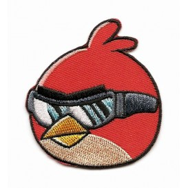 écusson angry birds go oiseau rouge thermocollant