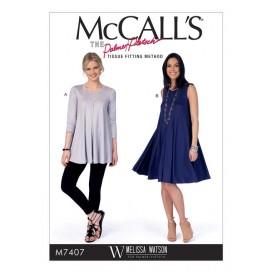patron haut et robe McCall's M7407