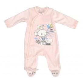 pyjama velours rose lapin naissance