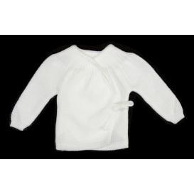 brassière maille acrylique ajouré lien blanc naissance