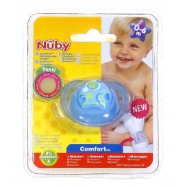 sucette confort nuby rond bleu 0-6m
