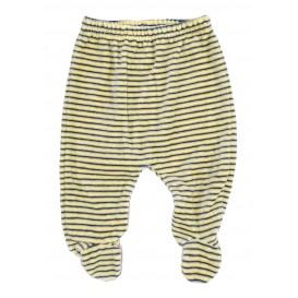 bas pyjama velours rayé jaune 3mois