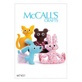 patron animaux en peluche McCall's M7451