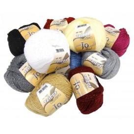 pelote de laine Jo métal (10 coloris)