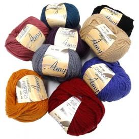 pelote de laine Amy (10 coloris)
