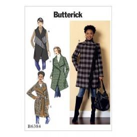 patron manteau et ceinture Butterick B6384