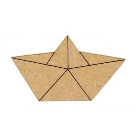 sujet en bois bateau origami