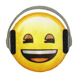 écusson emoji écoute de la musique thermocollant