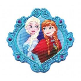 écusson disney elsa et anna la reine des neiges turquoise thermocollant