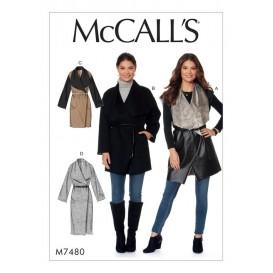 patron gilet et manteaux McCall's M7480