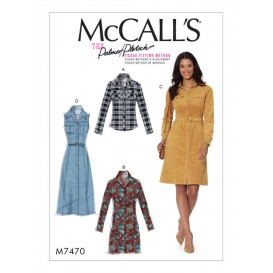 patron chemise, robes McCall's M7470
