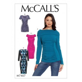 patron haut, tunique et robes McCall's M7467