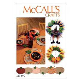 patron articles pour les fêtes McCall's M7490