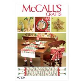 patron décorations de noël McCall's M7524