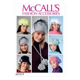patron chapeaux McCall's M7519
