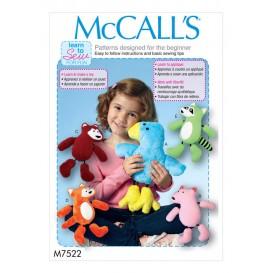 patron animaux en peluche McCall's M7522