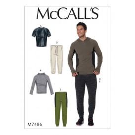 patron hauts et pantalon homme McCall's M7486