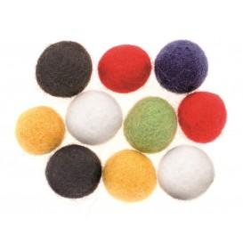 10 boules de feutrine 15mm