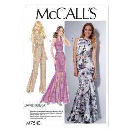 patron haut, robe, jupe McCall's M7540