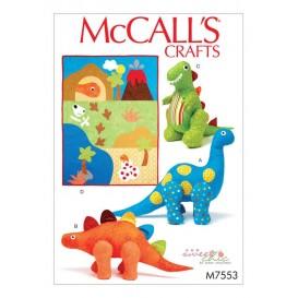 patron peluche dinosaures jouet McCall's M7553