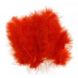 20 plumes d'oiseaux rouge