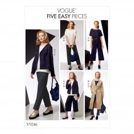 patron veste, ceinture, haut Vogue V9246
