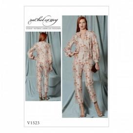 patron combinaison et ceinture Vogue V1523