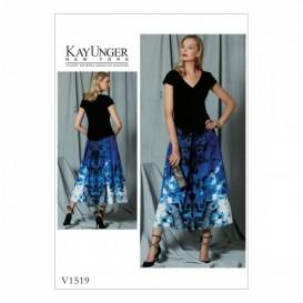 patron haut et jupe Vogue V1519