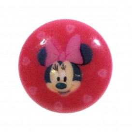 bouton disney minnie fuchsia 13mm