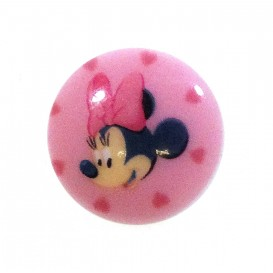 bouton disney minnie rose 15mm